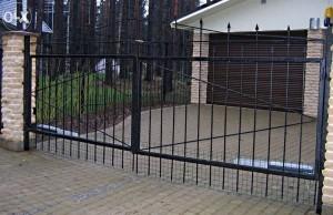 ворота для дачи въездные недорогие