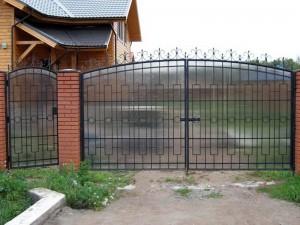 ворота и калитка недорогие для дачи поликарбонат