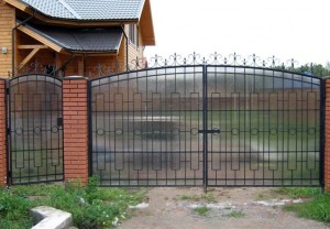 ворота с калиткой для дачи недорогие