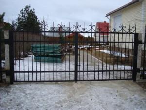 въездные сварные ворота