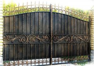 ворота металл ковка