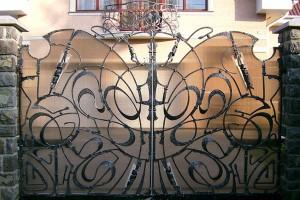 ворота эксклюзивные кованые патина