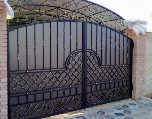 ворота металлический лист ковка