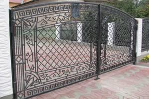 кованые ворота полукруглые