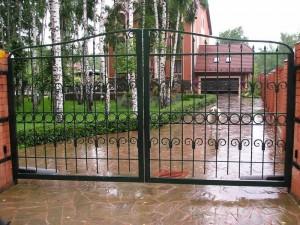 ворота сварные въездные