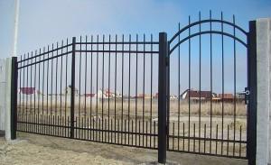 ворота с калиткой простые сварные