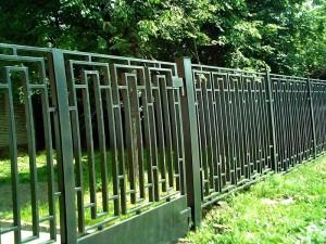 секционный забор с откатными воротами от производителя с установкой