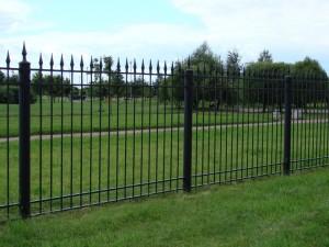 забор секционный сварной с ковкой и установкой