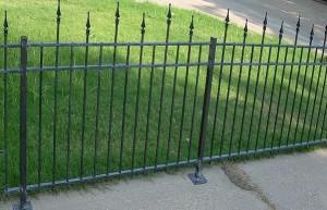 сварной забор с ковкой высота 1 м.