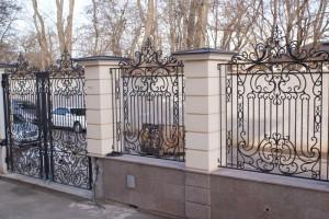 забор кованый по индивидуальному эскизу