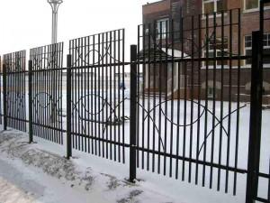 секционный забор для частного дома