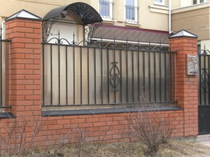 сварной забор ковка поликарбонат