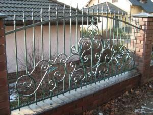 простой дешевый сварной забор для дома