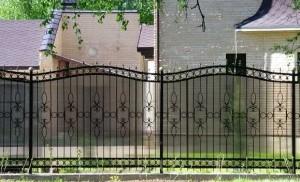 полупрозрачный сварной секционный забор