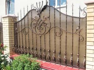 забор ковка поликарбонат