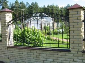 полукруглый сварной забор
