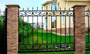кованый забор по индивидуальному проекту