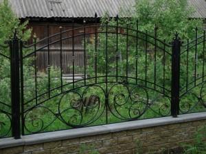 художественный кованый забор на заказ