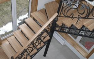 лестница дерево+металл